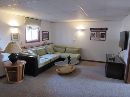 West Dennis Cape Cod vacation rental - Downstairs Family/Game Room w/ Flatscreen HD TV and DVD Player