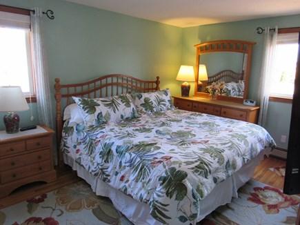 West Dennis Cape Cod vacation rental - King Master Bedroom w/flat screen HD TV