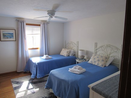 West Dennis Cape Cod vacation rental - Upstairs Twin Bedroom w/Ceiling Fan