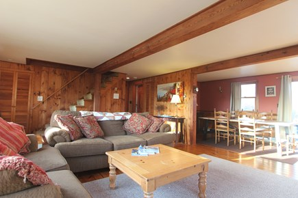 Eastham Cape Cod vacation rental - Open living and dining room.
