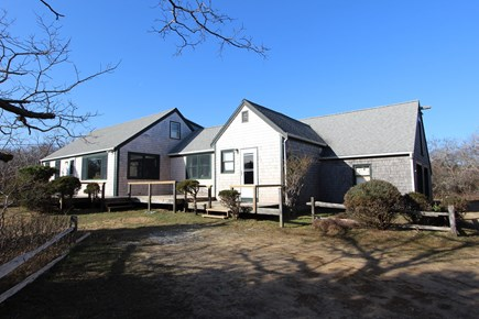 Eastham Cape Cod vacation rental - A traditional Cape home with deck facing the ocean.