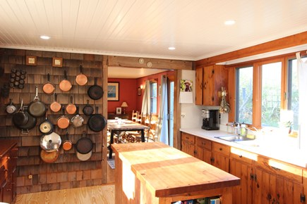 Eastham Cape Cod vacation rental - Fully equipped kitchen with east and west light.