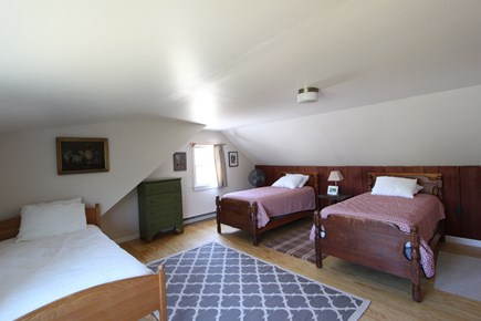 Eastham Cape Cod vacation rental - Second floor bedroom with three twin beds