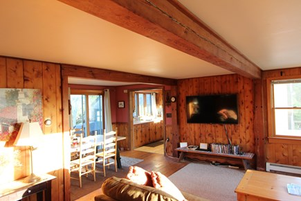 Eastham Cape Cod vacation rental - Large living and dining room in a secluded wooded setting.
