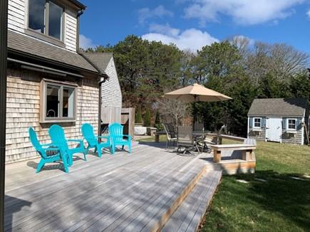 Orleans Cape Cod vacation rental - Back deck, outdoor shower