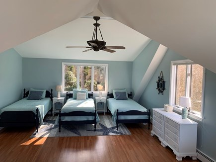 Orleans Cape Cod vacation rental - Fun bedroom with twin beds and bonus couch and TV area