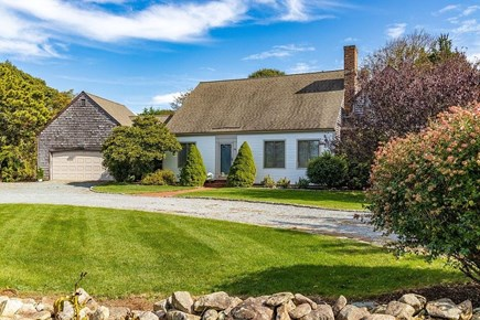 Orleans Cape Cod vacation rental - Front of house with circular driveway