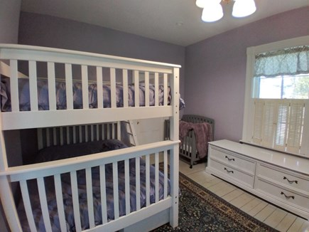 Dennis Cape Cod vacation rental - Full size bunk beds and set of twin bunks, baby's crib