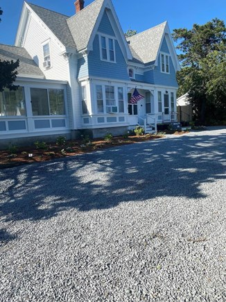 Dennis Cape Cod vacation rental - Front of the house view huge driveway