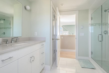 Centerville, Craigville Beach Road Cape Cod vacation rental - Full bathroom with beautifully tiled shower.