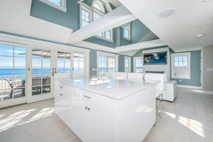 Centerville, Craigville Beach Road Cape Cod vacation rental - Large kitchen island.