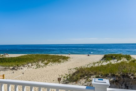 Centerville, Craigville Beach Road Cape Cod vacation rental - View of the private beach from the large deck.