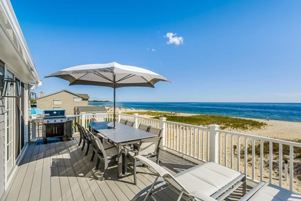 Centerville, Craigville Beach Road Cape Cod vacation rental - View of the brand new webber grill and loungers on the deck.