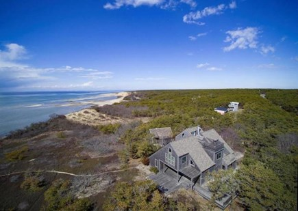 Wellfleet Cape Cod vacation rental - Gorgeous, private, beachfront locale w/main house & guest cottage