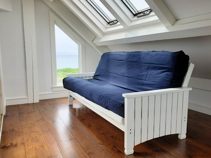 Wellfleet Cape Cod vacation rental - Third floor alcove in main house with futon and balcony deck