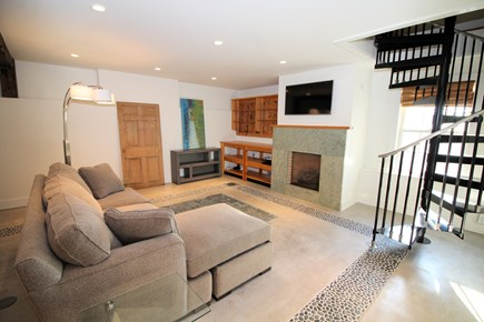 Wellfleet Cape Cod vacation rental - Main living area with pull out sofa in guest cottage