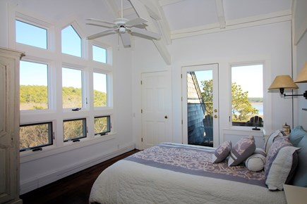 Wellfleet Cape Cod vacation rental - 2nd floor master w/queen bed & private balcony deck in main house