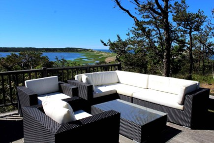 Wellfleet Cape Cod vacation rental - Lounge on the deck with amazing water views
