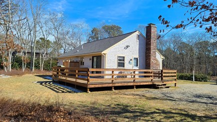 Eastham Cape Cod vacation rental - Nice deck, back yard, and enclosed outdoor shower