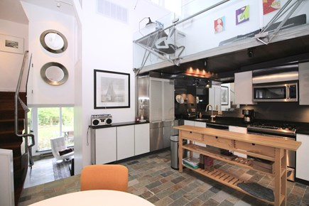 Provincetown Cape Cod vacation rental - Custom galley kitchen with stainless appliances