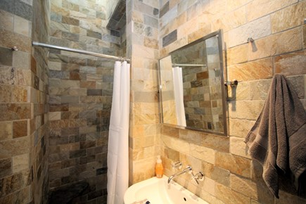 Provincetown Cape Cod vacation rental - First floor bathroom with custom tile shower