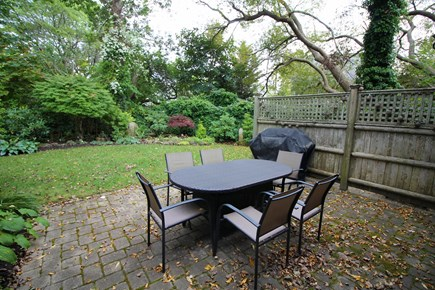 Provincetown Cape Cod vacation rental - Lovely patio with outdoor dining table and gas grill