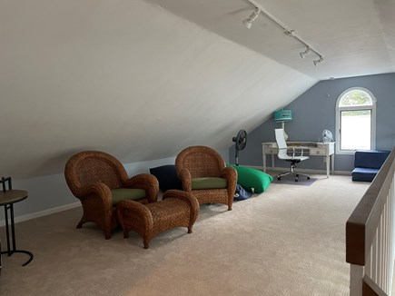 East Falmouth Cape Cod vacation rental - Read a book or setup office in loft over family room