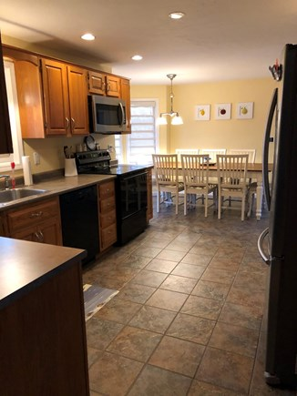 East Falmouth Cape Cod vacation rental - Well equipped kitchen seats 8 at Farmers Table