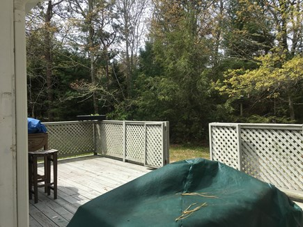 New Seabury Cape Cod vacation rental - Large Deck with outside table and grill.