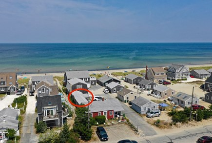 East Sandwich Cape Cod vacation rental - Aerial location of Condo unit and East Sandwich Beach