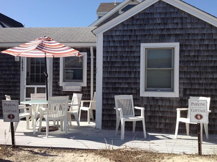 East Sandwich Cape Cod vacation rental - Private deck with seating and grill