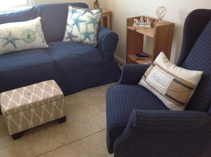 East Sandwich Cape Cod vacation rental - Seating in Living Room