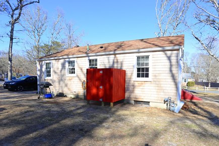 Yarmouth, Off South Sea Ave  Cape Cod vacation rental - Back of home with enclosed outdoor shower