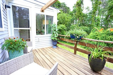 Harwich Retreat Cape Cod vacation rental - Back deck