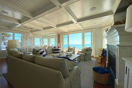 Paradise on Popponesset Cape Cod vacation rental - Living Room with Gas Fireplace