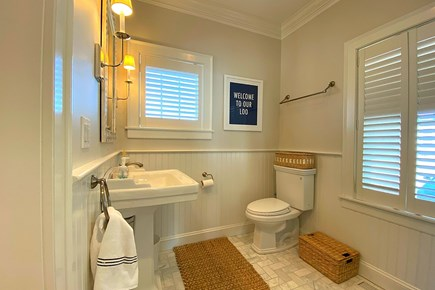 Paradise on Popponesset Cape Cod vacation rental - First Floor Bathroom can be accessed from the bedroom or hallway