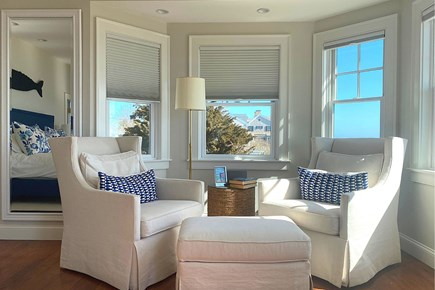Paradise on Popponesset Cape Cod vacation rental - Sitting Area in Main Bedroom