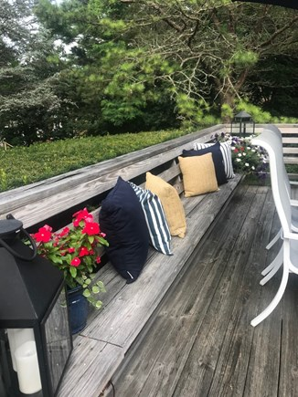 Harwich Cape Cod vacation rental - All around seating on the large patio