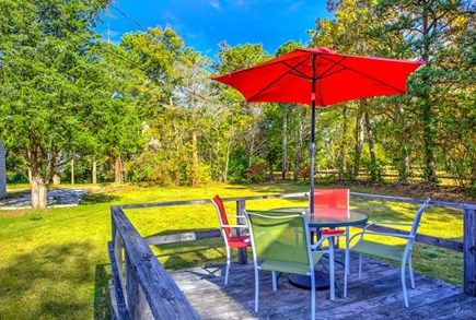 East Sandwich Cape Cod vacation rental - Private back yard and outdoor seating