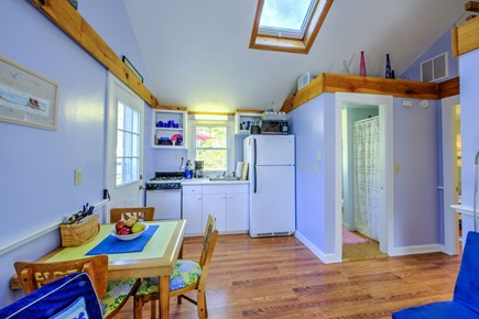 East Sandwich Cape Cod vacation rental - Fully equipped Kitchen and Dining table opens to Living area