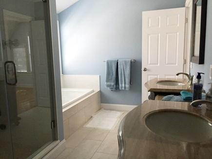 Harwichport Cape Cod vacation rental - Master bathroom