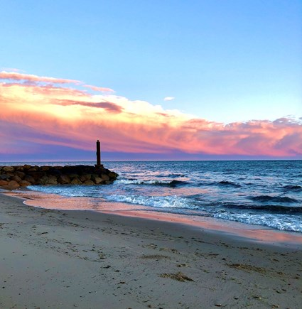 Harwichport Cape Cod vacation rental - Walk the beach and catch a view like this one!