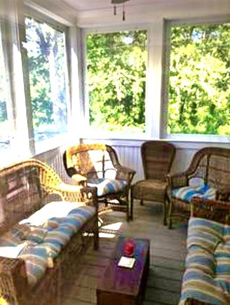 Harwichport Cape Cod vacation rental - Another view of screened in porch