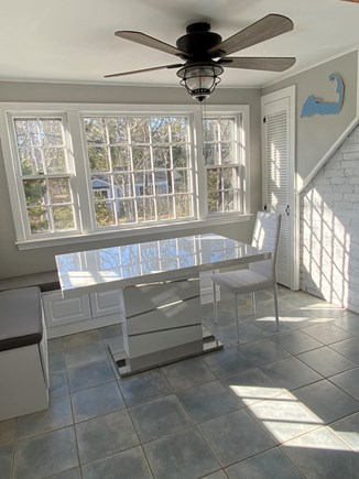 Dennis Cape Cod vacation rental - Eat in kitchen area with custom bench seating