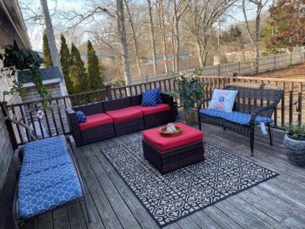 East Falmouth Cape Cod vacation rental - Back deck