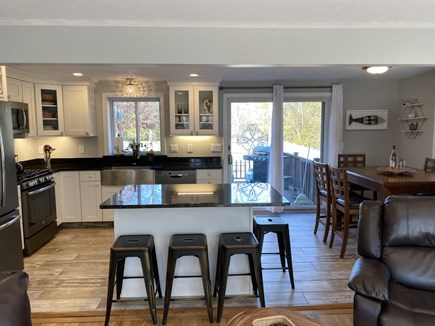 East Falmouth Cape Cod vacation rental - Kitchen with sliders to deck