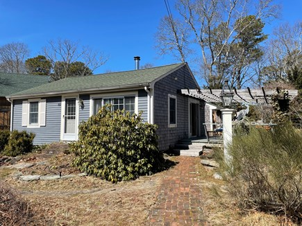 Eastham Cape Cod vacation rental - Front of the house with pergola