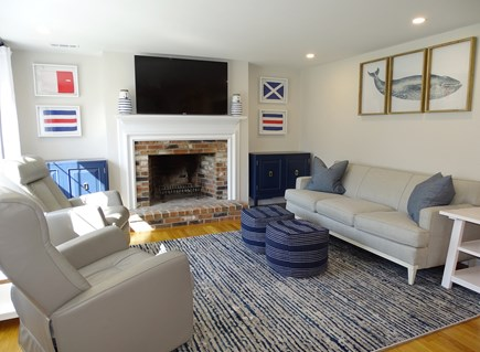 Harwich Cape Cod vacation rental - Bright living room with new furniture, Smart TV, hardwood floors