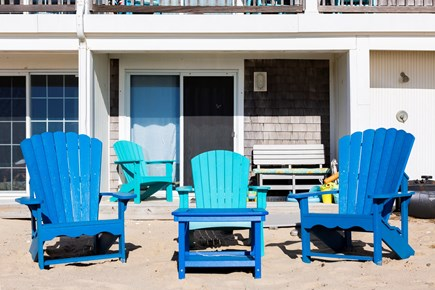 North Truro Cape Cod vacation rental - The shower is next to your deck and the chairs are comfy