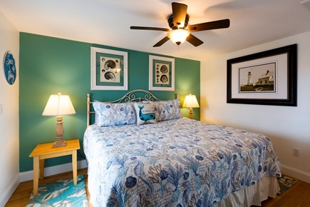 North Truro Cape Cod vacation rental - Master bedroom with king-size bed and AC/heating unit